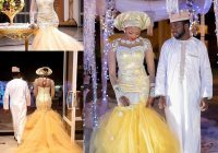 african traditional wedding dresses nigeria gold wedding gowns 2020 crystal beads sheer tulle long sleeves mermaid bridal dress plus size designer Nigerian Traditional Wedding Dresses