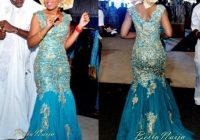 african traditional wedding dresses turquoise blue v neck gold appliques tulle sweep train nigeria bridal gowns dress gown bridal gowns with sleeves Nigerian Traditional Wedding Dresses