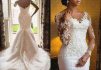 african wedding dresses from china sheer neck long sleeve beaded lace applique 2020 bridal gowns sweep train custom made dhgate white mermaid wedding Dhgates Wedding Dresses