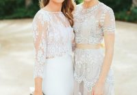 al fresco scottsdale wedding stunning two piece dress Wedding Dresses Scottsdale