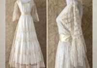 antique victorian wedding dress mid 1800s net lace and silk wedding gown ml 1800s Wedding Dress