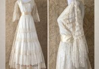 antique victorian wedding dress mid 1800s net lace and silk wedding gown ml 1800s Wedding Dresses