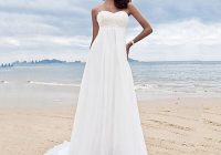 appliqued sweetheart simple chiffon beach wedding dresses Wedding Dresses Under 100.00