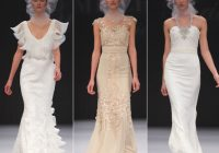 badgley mischka show latest bridal collection in new york Tori Spelling Wedding Dress