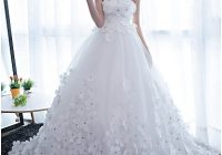 ball gown strapless chapel train satin tulle made to Lightinthebox Wedding Dress