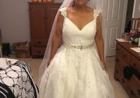ball gown v neck chapel train organza beaded lace made to Lightinthebox Wedding Dress