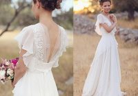 beach boho 2 piece wedding dress short sleeve a line summer Affordable Bohemian Wedding Dresses