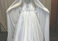 beautiful elven dress for a faerie wedding romantic and Elvish Wedding Dress