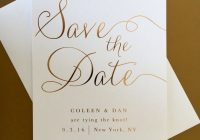 Beautiful gold foil wedding save the date modern elegant classic Wedding Save The Date And Invitation Packages Design