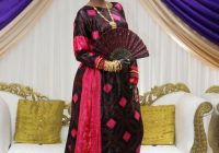 beautiful somali bride in her traditional somali clothes at Somali Wedding Dresses