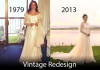 before and after picture of a full redesigned and restyled Wedding Dress Alterations Denver