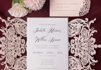 blush and silver laser cut wedding invitations cheap invite spring and summer luxury and elegant ws129 Cheap Wedding Invite