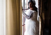 bride in beautiful lace wedding dress off the shoulder Wedding Dresses Cary Nc