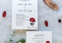 but a rose vintage beauty and the beast inspired uv printing wedding invitation swuv009 stylishwedd Printing Of Wedding Invitations