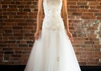 camille elegant drop waist hand beaded lace tulle Drop Waist Tulle Wedding Dress
