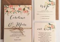caroline floral wedding invitation rsvp wish card twine packages ebay Wedding Invitation And Rsvp Packages