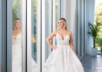 cashmere wedding ballgown dress with lace overlay at tesori Wedding Dress Springfield Mo