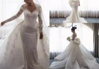 charming plus size mermaid wedding dress with removable Anthropology Wedding Dresses