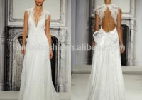 charming pnina tornai 2020 a line wedding dress with keyhole back deep v neck cap sleeve long lace bridal gown nb0664 buy wedding dresses Wedding Dress Designer Pnina