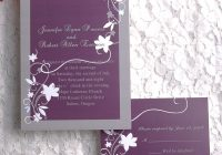 cheap rustic floral plum wedding invitations ewi001 as low Rustic Purple Wedding Invitations