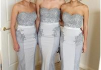 cheap silver bridesmaid dresses mermaid long country lace sweetheart gray sweep train sleeveless vintage party maid of honor gowns pale yellow Periwinkle Wedding Dresses
