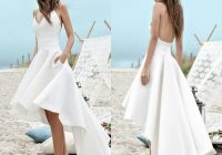 cheap under 100 summer wedding dresses 2020 a line beach boho bridal gowns high low backless spaghetti straps holiday gowns a wedding dress Pretty Wedding Dresses Under 100 Dollars