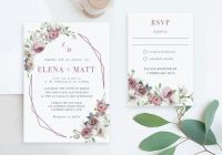 cheap wedding invitation suite invite and rsvp online kit package printable editable templates cheap instant download diy cards set Wedding Invitation And Rsvp Packages