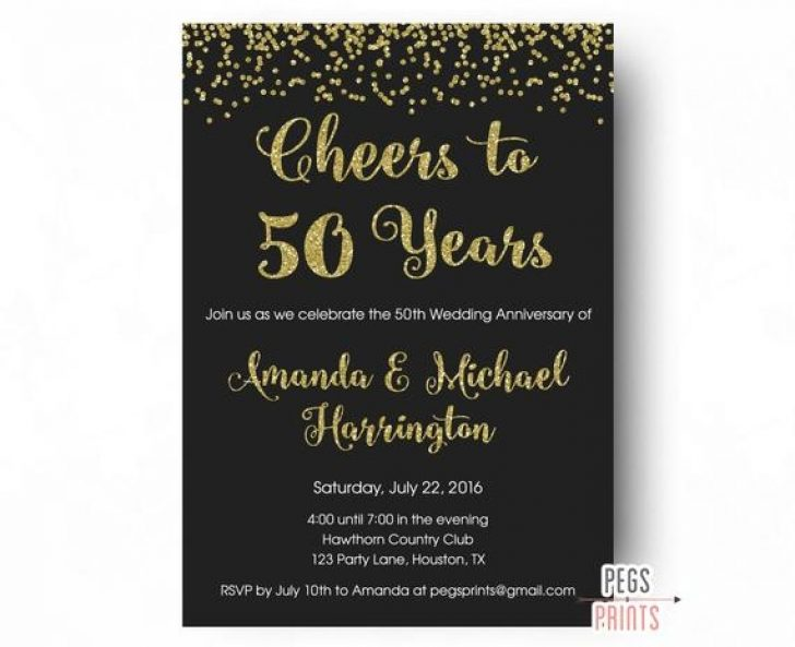 Permalink to 50th Wedding Anniversary Photo Invitations Design