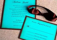 chocolate brown and blue wedding invitation tiffany blue Brown And Blue Wedding Invitations