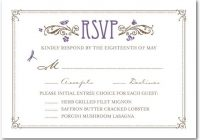 common response cards along with the wedding invitation Wedding Invitation Response Cards