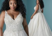 Cool 2021 plus size wedding dress styles for the curvy bride Pretty Beach Wedding Dresses Plus Size Designs