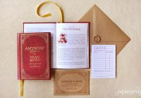 Cool fable storybook wedding invitation paper truly Wedding Invitations Price