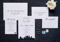 Cool modern city skyline wedding invitation design oh my Atlanta Wedding Invitations