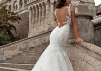 Cool pin on wedding dresses Pretty Backless Lace Wedding Dress Designs