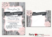 couples wedding shower invitation couples shower His And Hers Wedding Invitations