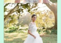 Cozy beautiful illusion lace back short sleeves tulle wedding Beautiful Short Lace Wedding Dresses With Sleeves