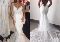 Cozy new arrival modern backless wedding dresses 2021 sexy open Pretty Backless Lace Wedding Dress Designs
