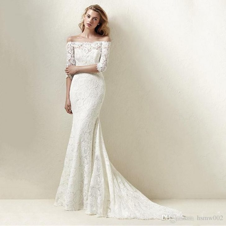 Permalink to Perfect Lace Boat Neck Wedding Dress Designs