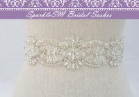 crystal bridal sash beaded bridal dress sash rhinestone sash bridal belt bridal sash crystal bridal sash sparklesm bridal sash maisie Rhinestone Belts For Wedding Dresses
