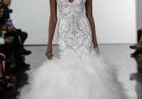 crystall embellished mermaid wedding dress with tulle skirt Wedding Dresses By Pnina