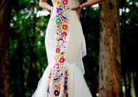 custom made mexican wedding dress embroidered dres for Traditional Mexican Wedding Dresses