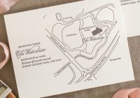 custom maps for letterpress wedding invitations directing Wedding Invitation Maps