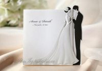 custom wedding invitations white embossed bride and groom Wedding Invitation With Pictures Of Bride And Groom