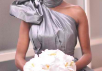 cynthia bailey in rubin singer gunmetal silver wedding dress Cynthia Bailey Wedding Dress