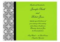 damask delight in lime green wedding invitation zazzle Lime Green And Black Wedding Invitations