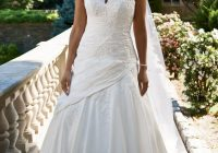 details about davids bridal a line halter lace wedding Davids Bridal Plus Size Wedding Dresses