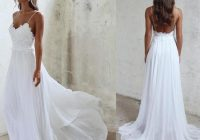 details about sexy backless spaghetti beach wedding dress lace chiffon white ivory bridal gown Beach Dresses For A Wedding