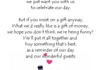 details about wedding money poem cards n11 ideal way to Wedding Invitation Poems
