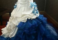 dip dye white and blue wedding dress from misszhu bridal Dip Dye Wedding Dress