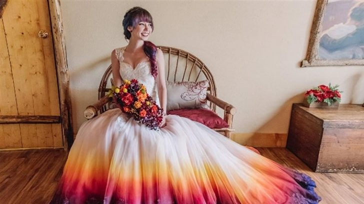 Permalink to Stunning Dyeing Wedding Dress